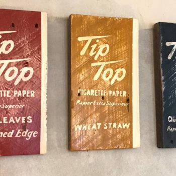 Hand-Painted, Tip Top Cigarette Paper, Signage